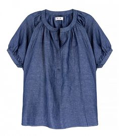 MiH Jeans Circle Linen and Cotton-Blend Chambray Top // Mih X Net-a-Porter Collaboration