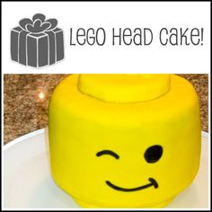 Lego head cake for Jared