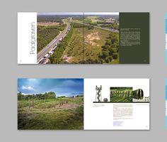 "Niekfabriek spread design for the book ""Onder de Maas"". photos lanscape: Rob de Wind."