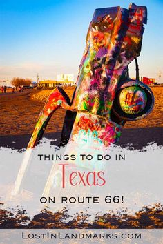 What not to miss when on a road trip and exploring Route 66 through Texas. All the quirky attractions, diners, neon, small towns and sights to see. route 66 | road trip | USA travel | Texas travel | Amarillo Route 66 Road Trip, Road Trip Usa, Texas Travel, Travel Usa, Michigan Travel, Arizona Travel, Best Weekend Getaways, Historic Route 66, United States Travel