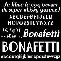 Bonafettiフォント| dafont.com