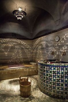 Think larger pattern tilework for more impact