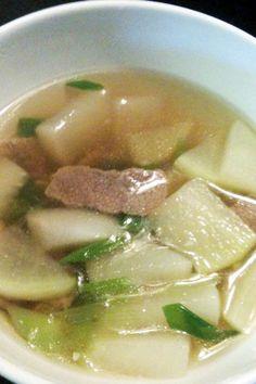 Michelle's radish and beef soup Like and share! Thank you! :) MMMMMMMMMMMMMMMM