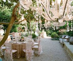 Why not decorate your garden with your finery and host an elegant English Tea-I think I just found the theme for my wedding!
