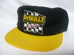 Nascar Dewalt racing Bobby Dotter #08 cotton trucker hat black - Vintage Snap Back Hats, Full Foam Hats, Painter hats & Rare finds