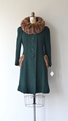 Cloghlough coat vintage 1930s coat wool 30s coat by DearGolden