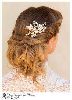 Shop bridal hair combs by Hair Comes the Bride!