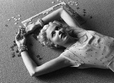 Untitled (Girl and Puzzle) | From a unique collection of black and white photography at https://www.1stdibs.com/art/photography/black-white-photography/
