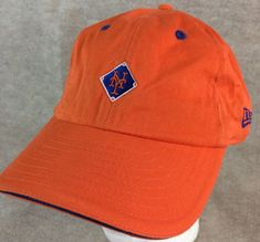 ada28c87 New York Mets Baseball Club Logo Hat Orange Adjustable New Era #fashion  #clothing #