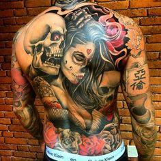 Tattoos for men Wicked Tattoos, Badass Tattoos, Hot Tattoos, Great Tattoos, Life Tattoos, Beautiful Tattoos, Body Art Tattoos, Sleeve Tattoos, Neck Tattoo For Guys