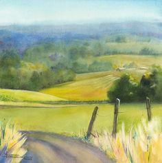 Maud Durland watercolor - Fall Sunday