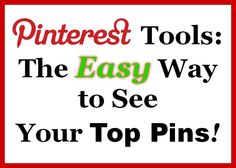 What's the easiest, fastest, FREE way to see your most popular pins - for a business OR personal Pinterest account? Click to learn more about Pin4Ever's helpful Pinterest tools!