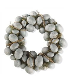 Loving this Blue Spotted Eggs Wreath on #zulily! #zulilyfinds