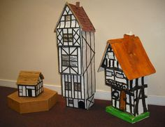 Making a model house - House and home design Fire London, Great Fire Of London, The Great Fire, Home History, Tudor History, School Projects, Projects For Kids, Kids Homework, Homework Ideas