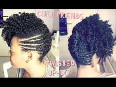Curl Friends | Funky Up-Do on Natural Hair - YouTube