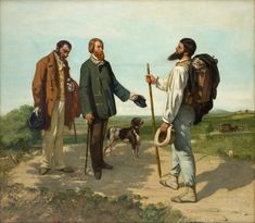 Gustave COURBET The Meeting or Bonjour Monsieur Courbet 1854 Oil on canvas, 129 x 149 cm Musée Fabre, Montpellier Art Challenge, Montpellier, Gustave Courbet, Art Ancien, Famous Art, Indigenous Art, Traditional Paintings, Realism Art, Canadian Artists