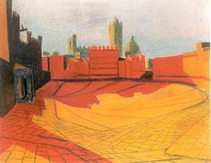 Campo, Sienna, Italy (Drawing by Louis Kahn, 1951)