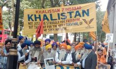 Sikhs and Kashmiris protest outside Indian Embassy in London - http://sikhsiyasat.net/2015/08/16/sikhs-and-kashmiris-protest-outside-indian-embassy-in-london/