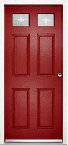 Colonial External Glazed Enduradoor Door Set in Red - MODA Doors  - 1