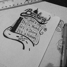 Bandung not just a city - hand lettering