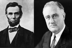Abraham Lincoln, the 16th U.S. President and a Republican (left), and Franklin Roosevelt, the 32nd U.S. President and a Democrat. The Republican and Democratic parties effectively switched platforms between their presidencies.