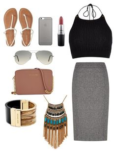 Untitled #7 by dhaanya on Polyvore featuring River Island, Austin Reed, Aéropostale, Michael Kors, Leslie Danzis, Ray-Ban, Native Union and MAC Cosmetics