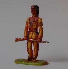 Hausser Elastolin Ref : 7539 Winnetou debout 1ère peinture