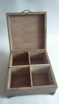 Wood burned box [decoupage]