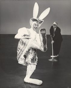 "Doris Day rehearsing for the ""Freddie Get Ready"" number from My Dream Is Yours (1949)  via mattadoresit  Happy Easter, Everybody!"
