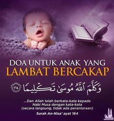 Doa buat anak yg lambat bicara / doa for speech delay Doa Islam, Allah Islam, Reminder Quotes, Self Reminder, Doa Ibu, Surah Al Quran, Ali Bin Abi Thalib, Pray Quotes, Hadith Quotes