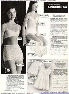 Vintage Underwear, Vintage Lingerie, Growing Up Girl, Christmas Catalogs, Vintage Outfits, Vintage Clothing, 70s Fashion, Dress Outfits, Dresses