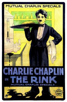 https://commons.wikimedia.org/wiki/File%3AThe_Rink_(poster).jpg eg of coloured silent film poster - reuseable in public domaine