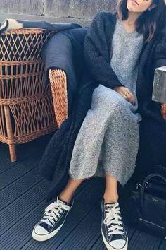 sweater dress chucks/simple winter                                                                                                                                                                                 More