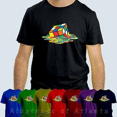 #Melting rubik's cube dripping #sheldon #cooper big bang theory mens & kids t shi,  View more on the LINK: http://www.zeppy.io/product/gb/2/111666115250/