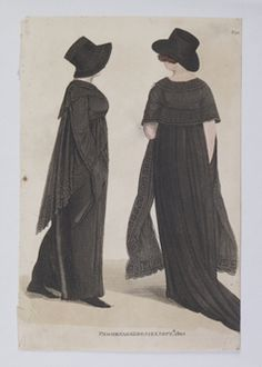 1805. I'm guessing mourning dresses