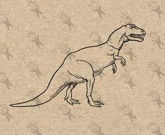 Vintage image Dinosaur Tyrannosaurus T. Rex Dinosaur Clipart Transfer Digital File Instant Download DIY t-shirt pillow tote HQ300dpi by UnoPrint on Etsy #hq #png #bw #Ephemera #diy #old #book #illustration #gravure #inspiration #retro #antique #vintage #300dpi #craft #draw #drawing  #black #white #printable #crafts #transfer #decor #hand #digital #collage #scrapbooking #quality