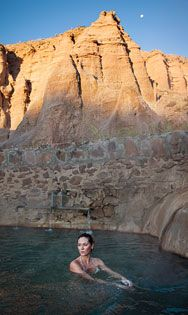 Ojo Caliente Spa.  Love this place! Too bad it got so expensive when the new owners took over.