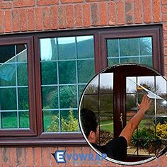 Silver Reflective Window Film (Solar Control & Privacy Tint - One Way Mirror / Mirrored Glass) (76cm x 2 metres)