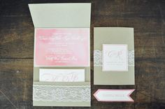 Watercolor Wedding Invitations by The Charm Studio @Sarah Allan