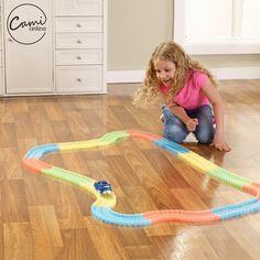240 ks Kid barevné plastové Race Track LED Car Děti shromáždění hračka Bend Flex Glow Rails Závodní DIY Puzzle Roller Coaster hračky