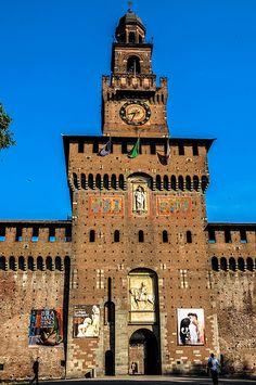 Torre del Filarete at Castello Sforzesco, Milan, Italy
