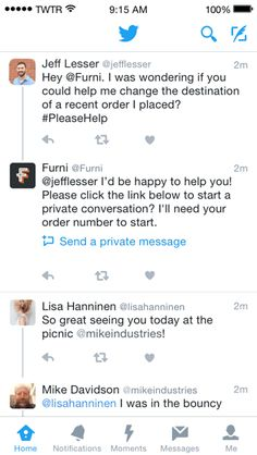 It's getting easier to use Twitter for customer service - A lot of people turn to Twitter to ask for help from or to air their grievances against a particular company knowing they can get a response faster that way.