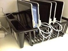 iPad storage. $2 dish strainer