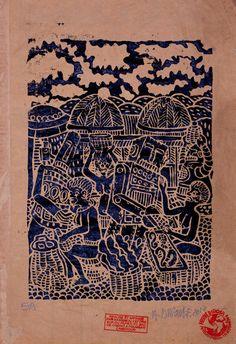 Le Combat  des  Bamouns Contre Les Robots  Hervé Di Rosa 2011 Arte Herve, Rugs, Home Decor, Industrial Design, Architecture, Farmhouse Rugs, Decoration Home, Room Decor, Floor Rugs