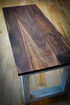 Concrete Coffee Table, Concrete Wood, White Concrete, Table Beton, Walnut Table Top, Table Cafe, Decoration Piece, Handmade Home, Walnut Wood