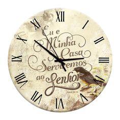 Relógio de Parede Oração em Madeira MDF - 28 cm | Carro de Mola - Decorar faz bem.