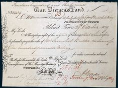VAN DIEMEN'S LAND, Bill of Exchange for one hundred pounds sterling, third of exchange, Commissariat Office Hobart Town, 29th October… / MAD on Collections - Browse and find over 10,000 categories of collectables from around the world - antiques, stamps, coins, memorabilia, art, bottles, jewellery, furniture, medals, toys and more at madoncollections.com. Free to view - Free to Register - Visit today. #Banknotes #Pre1900 #MADonCollections #MADonC Van Diemen's Land, Promissory Note, Retro Vector, Toned Paper, Cut Outs, Vector Design, Mad, Australia, Stamp