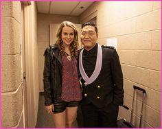 Bridgit Mendler Meets Psy December 5, 2012