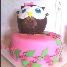 Cute owl birthday cake.
