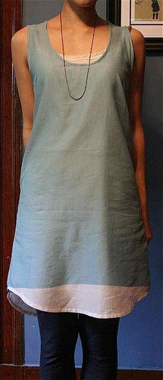 wiksten tank dress - love the bottom  jp #3205 book pattern 10